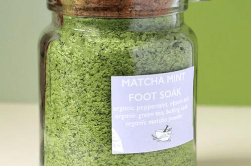 DIY Matcha Green Tea Foot Soak