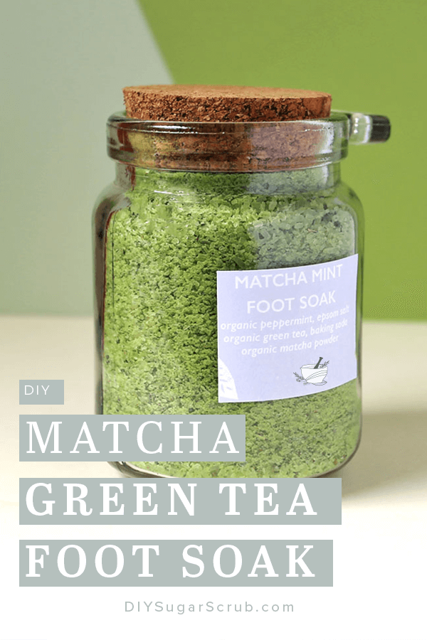DIY Matcha Green Tea Foot Soak #diysugarscrub #footsoak #matcha